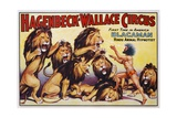 Hagenbeck-Wallace Circus Poster with Hindu Animal Hypnotist