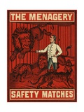 The Menagery Matchbox Label