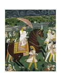 Early 19th Century Painting Titled Maharajah Sher Singh  Son of Ranjeet Singh