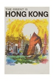 The Orient Is Hong Kong Travel Poster