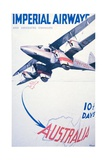 Imperial Airways to Australia Poster