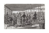 Engraving Depicting Serving of Dinner in the Oakum-Room of the Boys' Prison at Tothill Fields