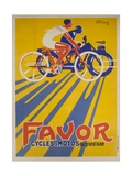 Favor Cycles and Motos French Advertising Poster Giclée