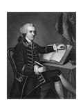 Portrait Engraving of John Hancock