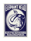 Elephant Head Matchbox Labels