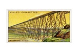 Lethbridge Viaduct Wills's Cigarette Trade Card
