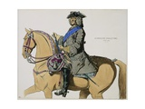 Print Depicting King George II on Horseback