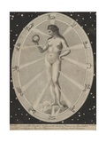 Female Nude Surrounded by Astrological Symbols