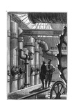 Illustration of the Engine Room of the Nautilus