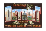 Greetings from Detroit  Michigan  the Motor Capital of the World