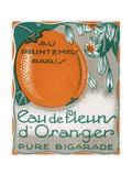 Eau De Fleurs D'Oranger Perfume Label