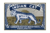 Indian Cat Indian Matchbox Label