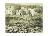 Lithograph of Excavations at the North Side of Quadrangle