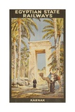 Egyptian State Railways Travel Poster Karnak