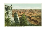 Grand Canyon of Arizona  from Grand View Point Postcard