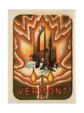 Vermont Travel Decal