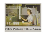 Filling Packages with Ice Cream Poster