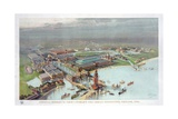 Official Birdseye View World's Columbian Exposition  Chicago  1893