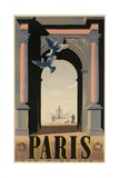 Paris  French Travel Poster  Arch