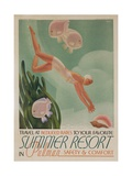 Summer Resort Travel Poster