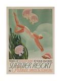Summer Resort Travel Poster Giclée