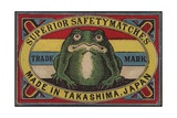 Superior Safety Matches Japanese Matchbox Label