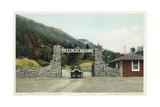 The Pike's Peak Auto Highway Postcard