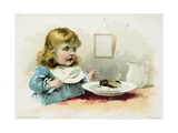 Woolson Spice Company Trade Card with a Fly in a Little Girl's Soup