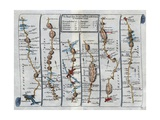 Old Map of the Road from Dartmouth to Minhead in Somerset-Shire