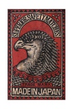 Japanese Matchbox Label with an Eagle Head