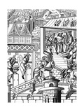 Woodcut Illustration Showing the Mint and Administrators