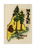 Maine Travel Decal