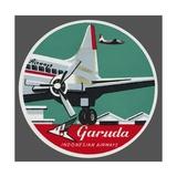 Garuda Indonesian Airways Luggage Label