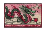 Japanese Matchbox Label with a Dragon
