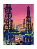 Oil Series: Oil Wells in an Oil Field