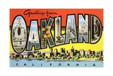 Greetings from Oakland  California