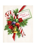 Vintage Illustration of Christmas Candy Cane