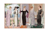 Women Modeling 1920's French Fashion