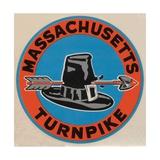 Massachusetts Turnpike Travel Decal