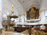 West-Facing of Steinmeyer Organ in St Michaelis Church  Hamburg  Germany