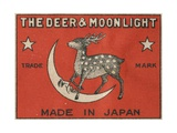 The Deer and Moonlight Matchbox Label