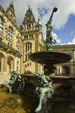 Neo-Renaissance Statues and Fountain at the Hamburg Rathaus  Opened 1886  Hamburg  Germany  Europe