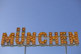 Munich Sign on Roof of Fairground Ride  Oktoberfest  Munich  Bavaria  Germany