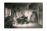 Martin Luther Writing at Wartburg Castle  1521-1522