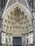 Gothic Nested Arches  Upper Part of Portal of Cologne Cathedral  North Rhine-Westphalia  Germany
