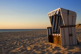 Empty Beach Chair on Weststrand Beach in Evening