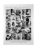 Photograph of Promotional Reference Sheet of Unusual Photographs of Animals  November 1970