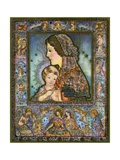 Vintage Illustration of the Virgin and Child