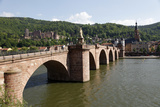 Old Bridge over the River Neckar  Old Town and Castle  Heidelberg  Baden-Wurttemberg  Germany
