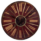 Vintage Weathered Large Red Wall Clock